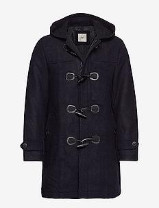 Toggle wool coat - NAVY