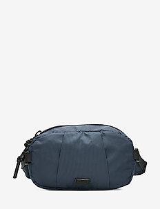 Technical fabric round beltbag - MEDIUM BLUE