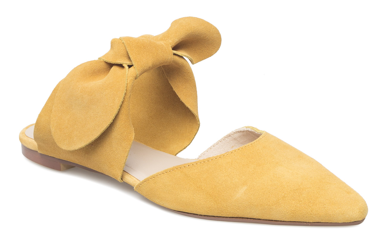 Mango Bow leather shoes