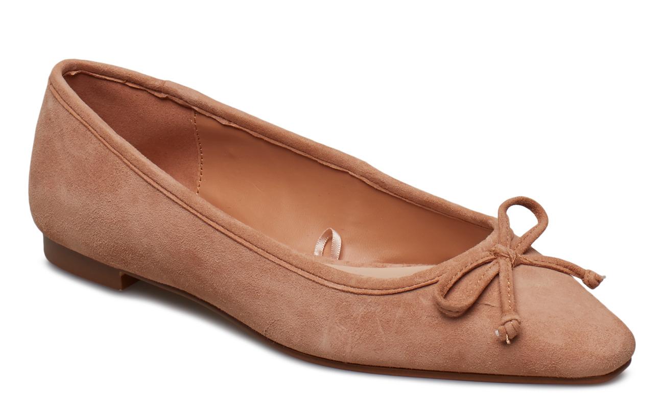 Mango Bow leather ballerina Ballerinas