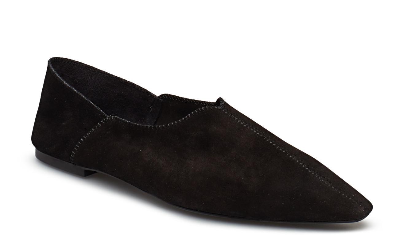 Mango Leather pointed skor Platta skor