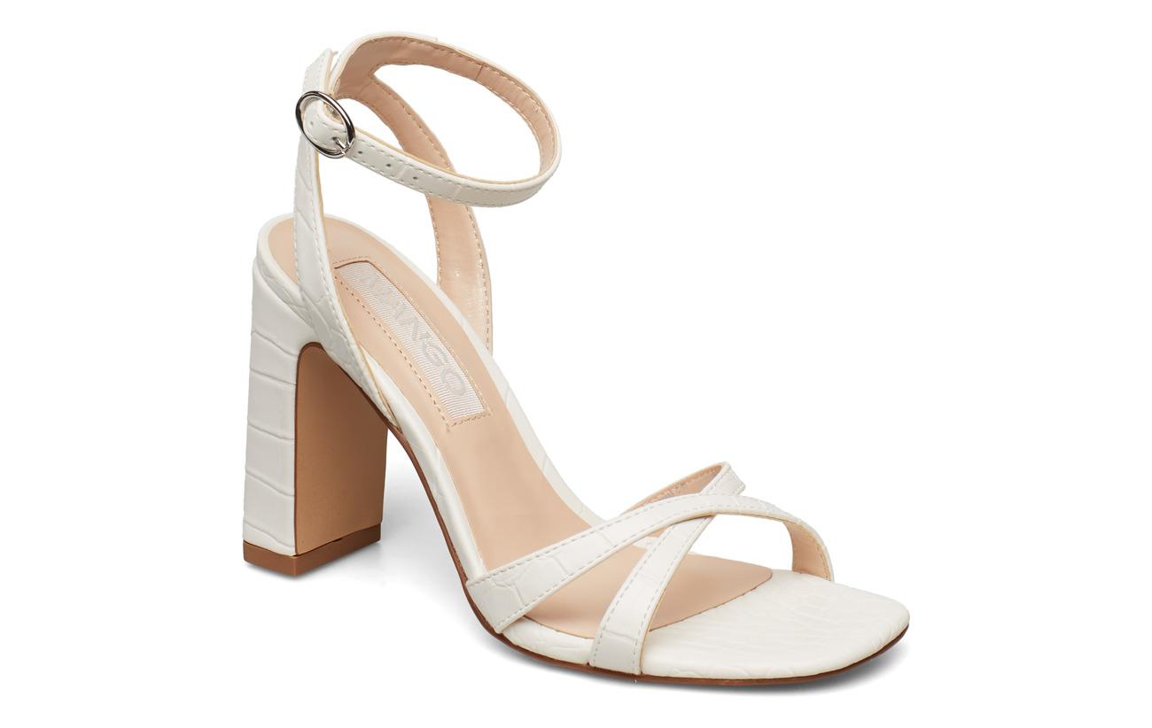 Mango Croc-effect sandals - NATURAL WHITE