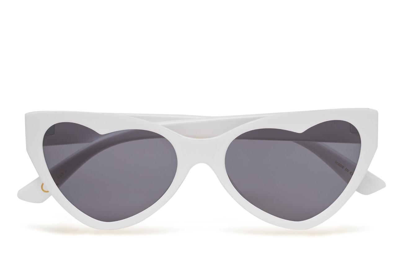 Mango Heart-shape sunglasses - WHITE