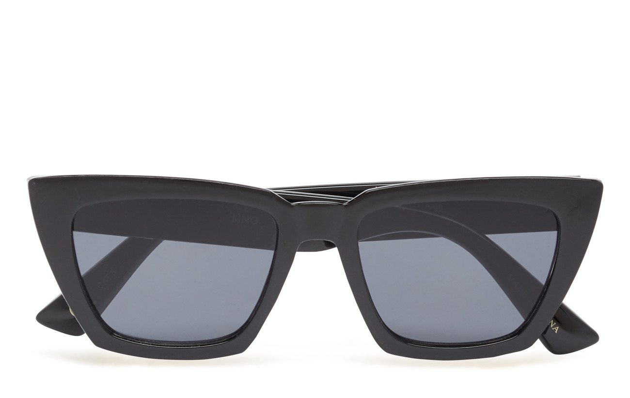 Mango Acetate frame sunglasses - BLACK