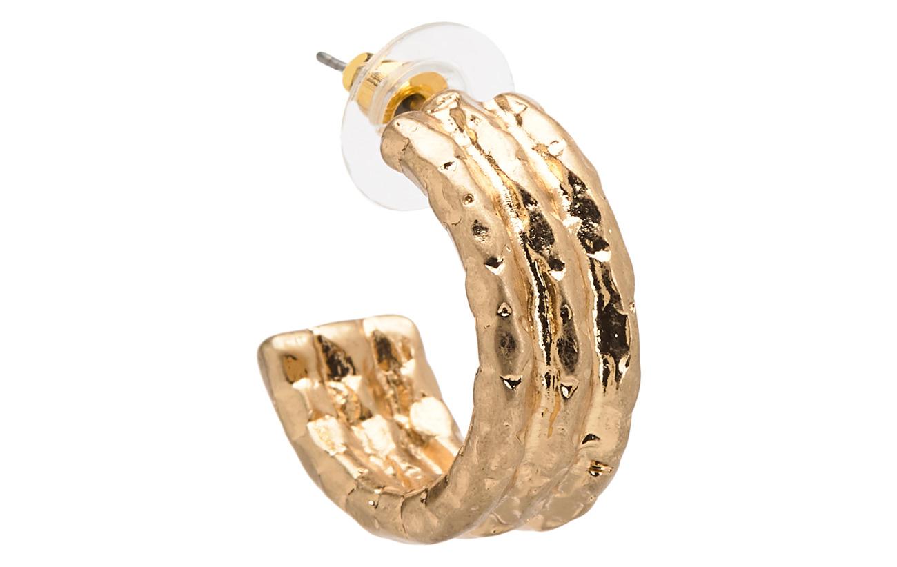 Mango Metallic hoop earrings - GOLD