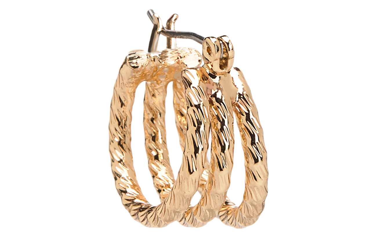 Mango Metallic hoop earrings - GOLD