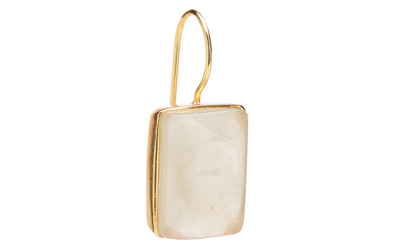 Mango Beaded resin earrings - GOLD