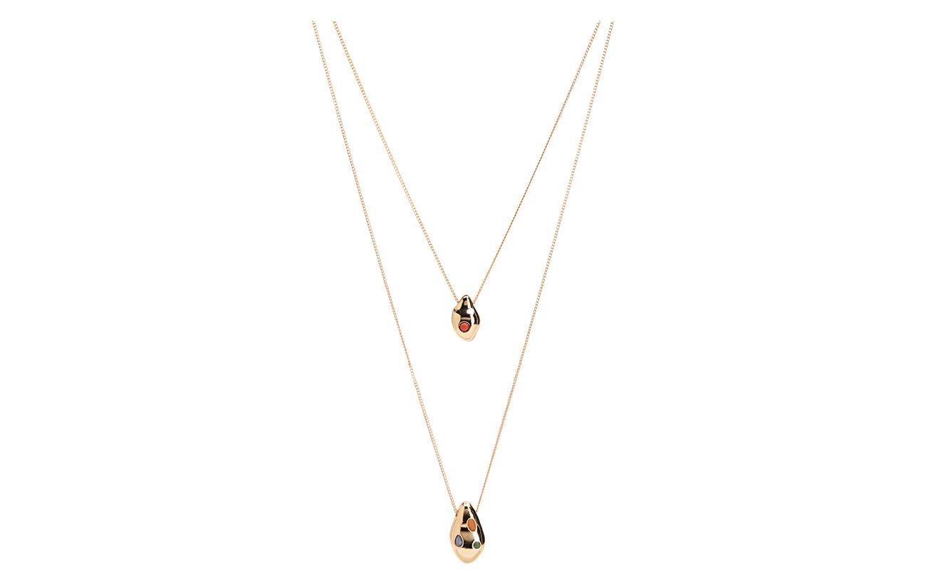 Mango Beaded double necklace - GOLD