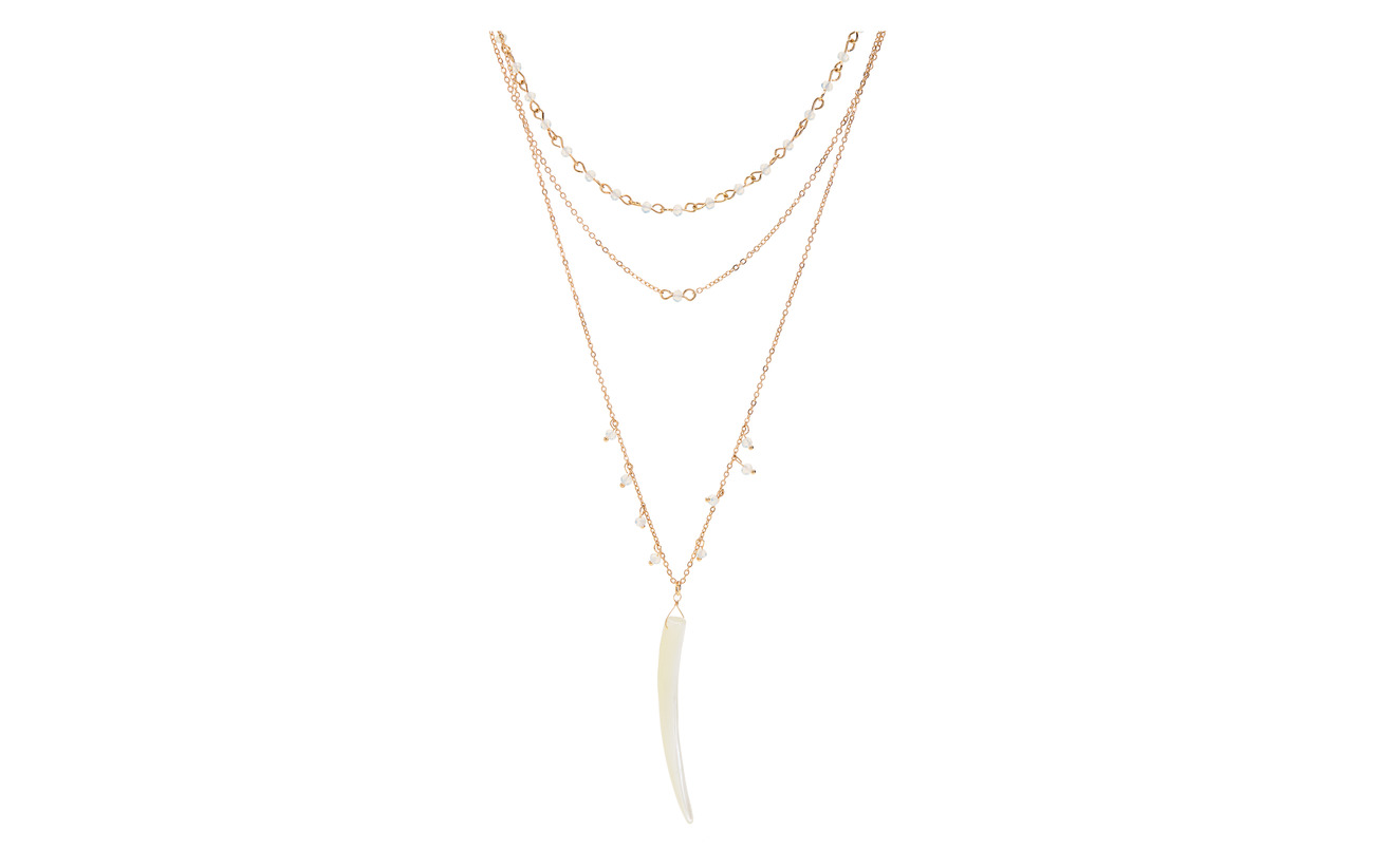 Mango Pendant waterfall necklace - GOLD