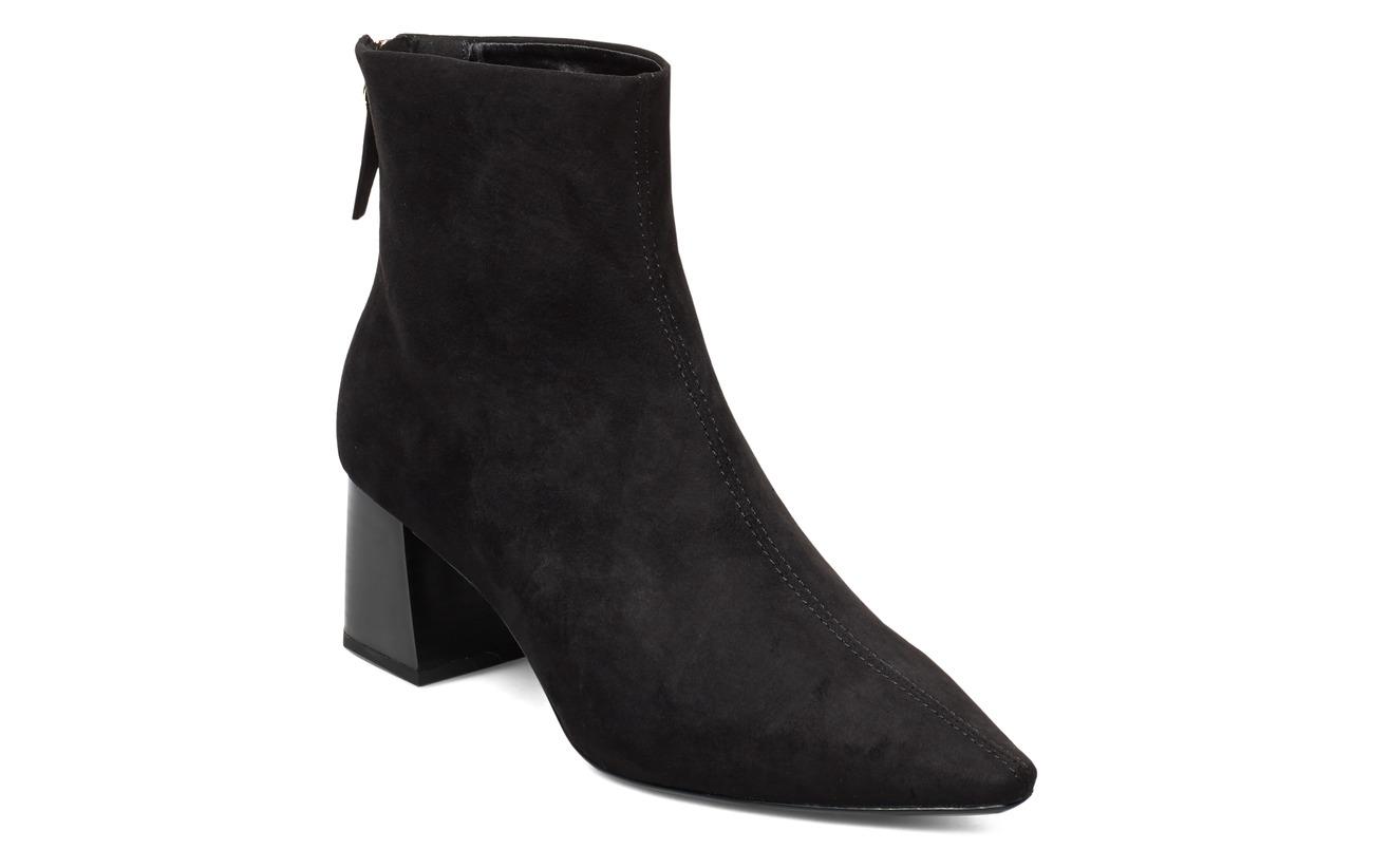 Mango Heel zipped boots - BLACK