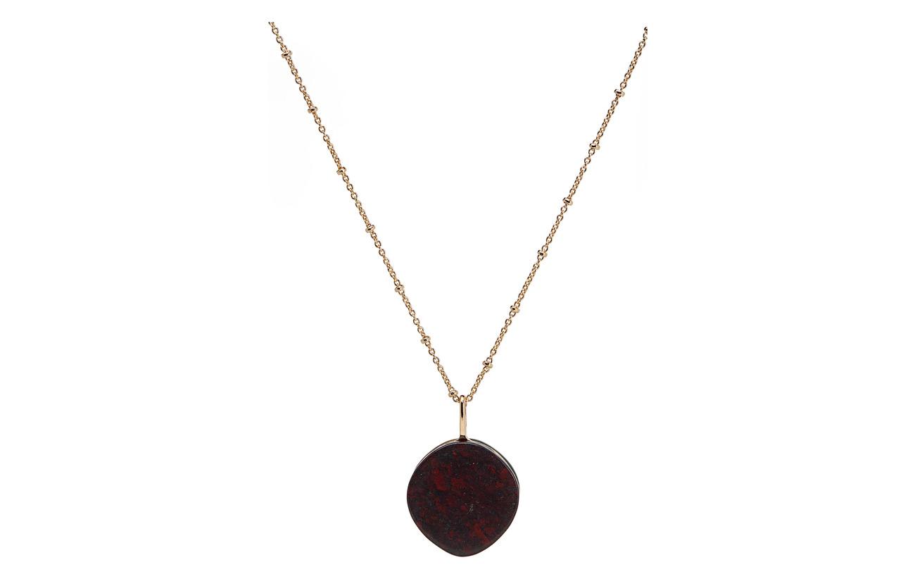 Mango Stone pendant necklace - GOLD