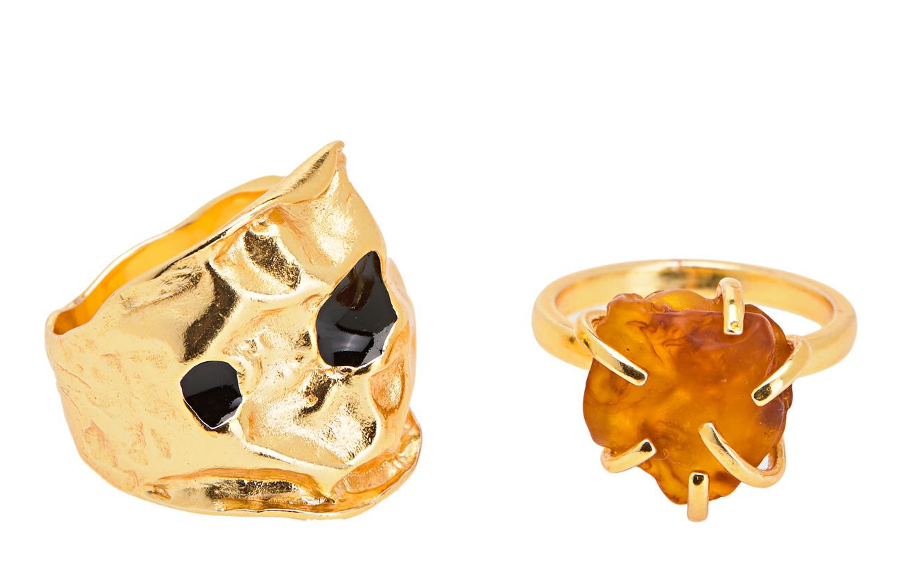 Mango Resin ring set - GOLD