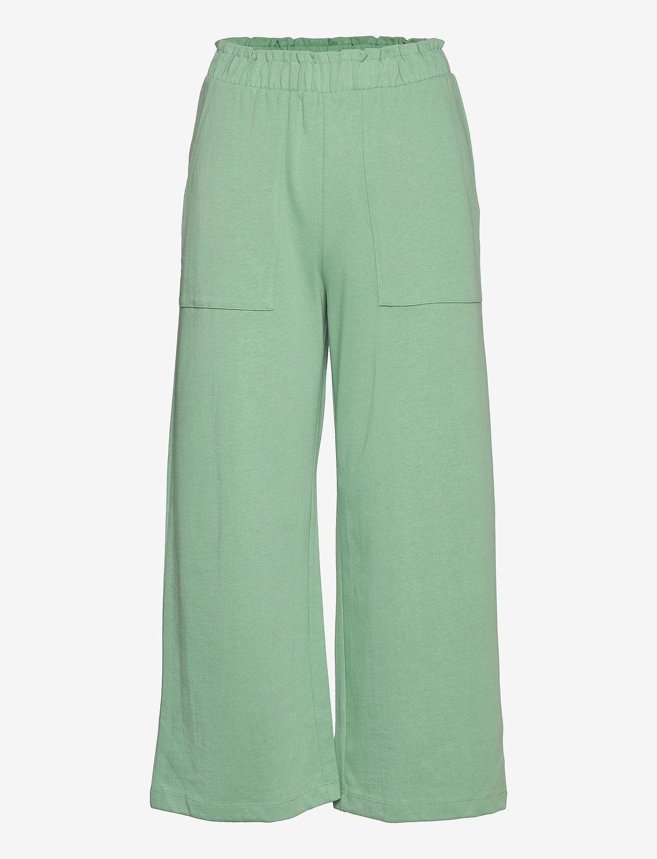 Mango - CLAY - bukser med brede ben - pastel green - 0