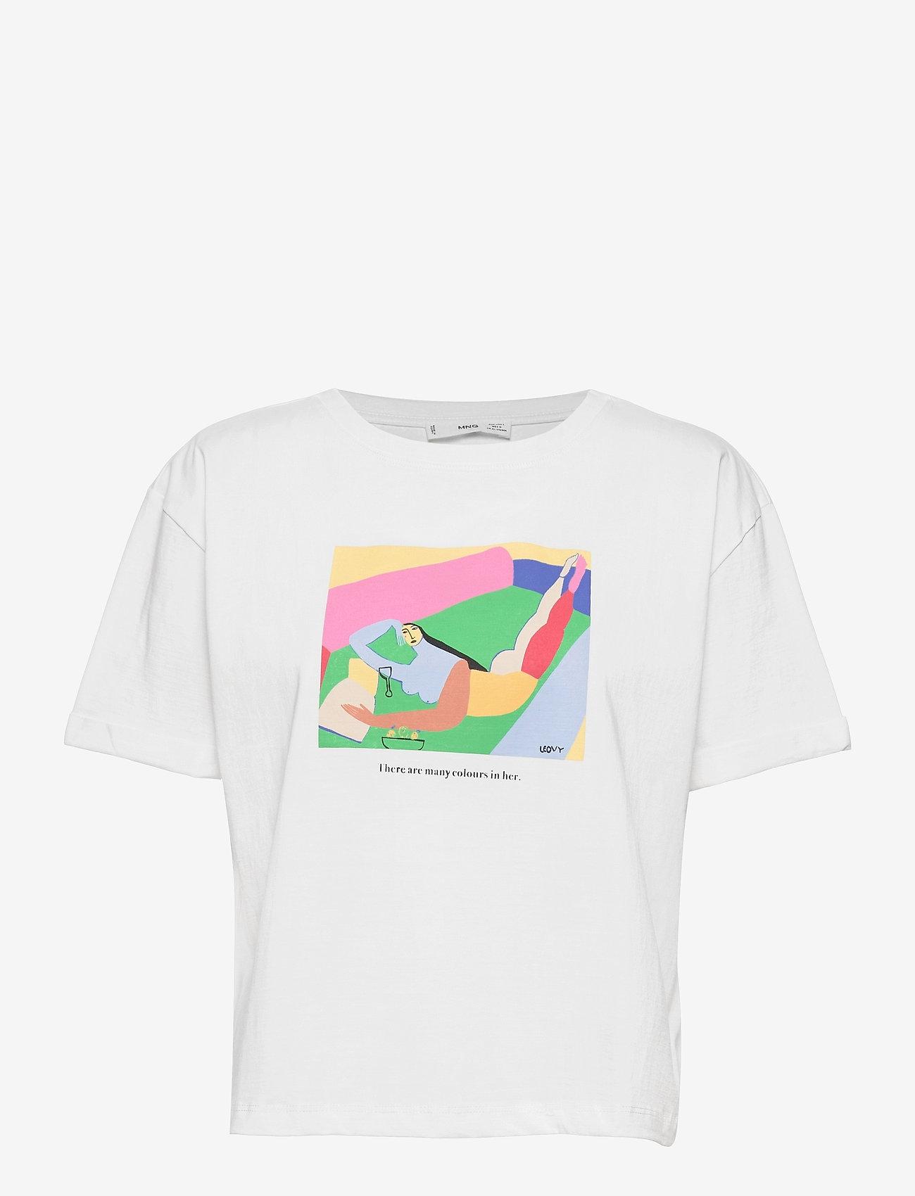 Mango - PSWOMAN3 - t-shirts - white - 0