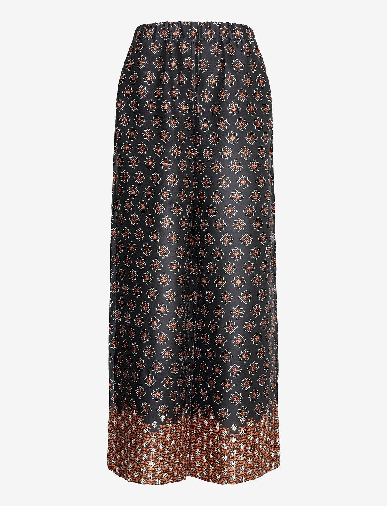 Mango - AFRO - bukser med brede ben - black - 0
