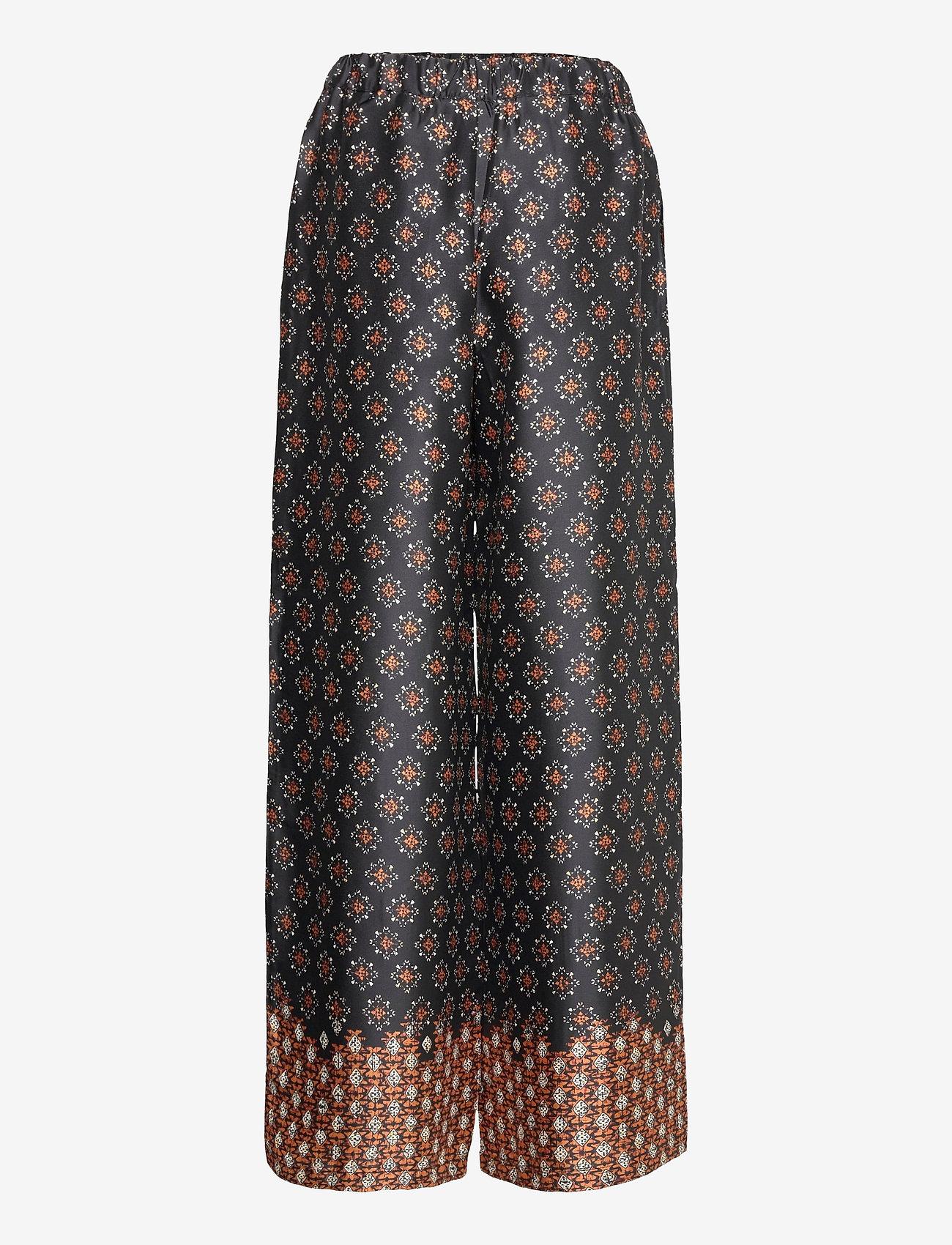 Mango - AFRO - bukser med brede ben - black - 1