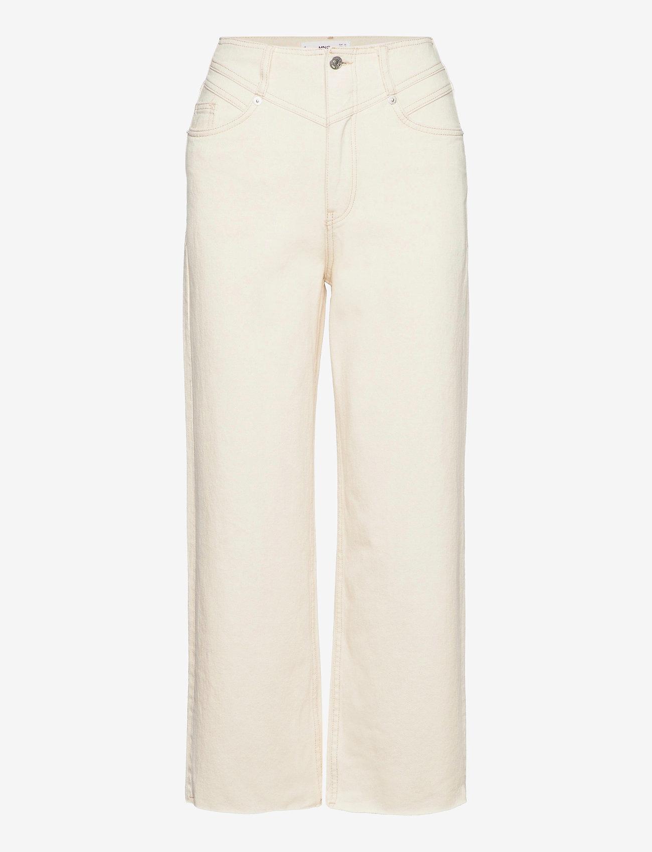 Mango - JULIETA - bukser med brede ben - light beige - 0
