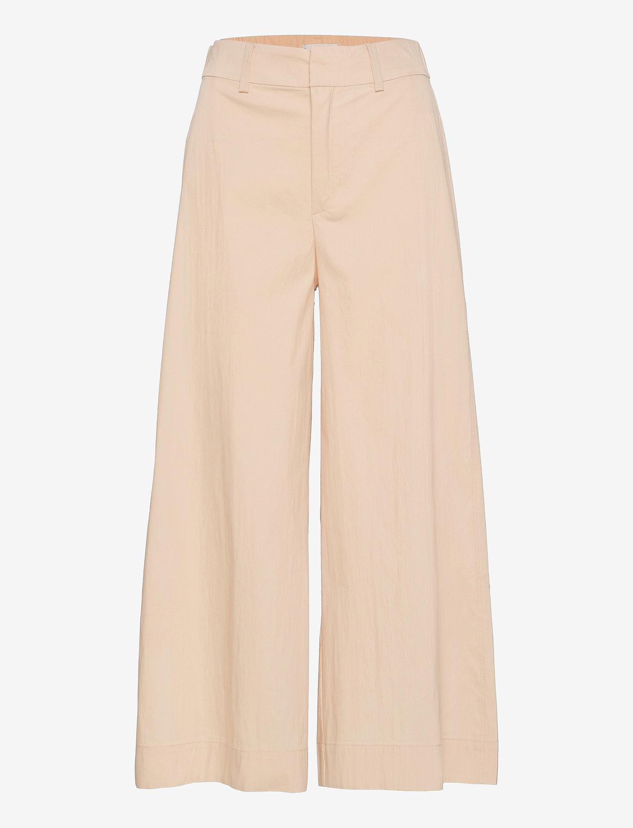 Mango - CIEL - bukser med brede ben - ecru - 0