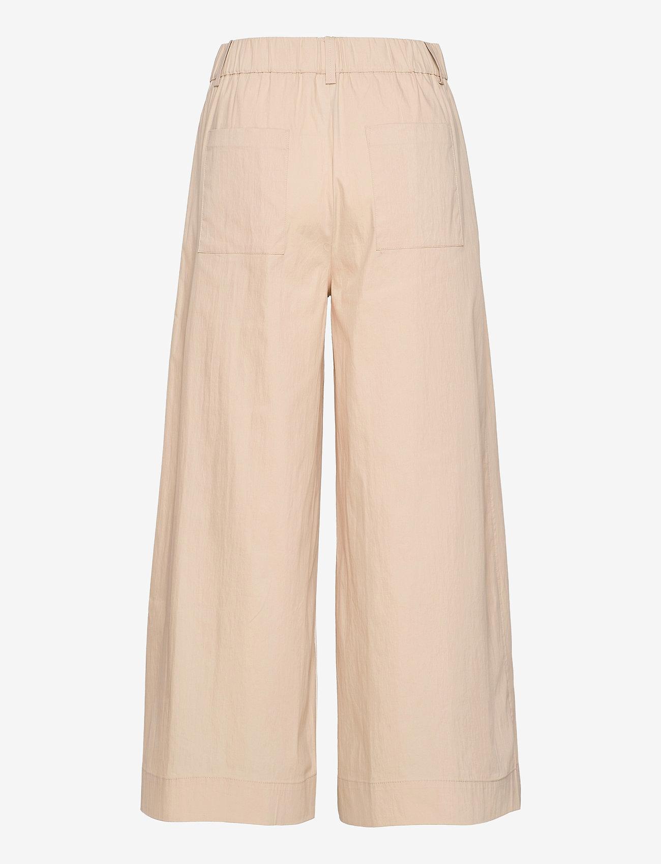 Mango - CIEL - bukser med brede ben - ecru - 1