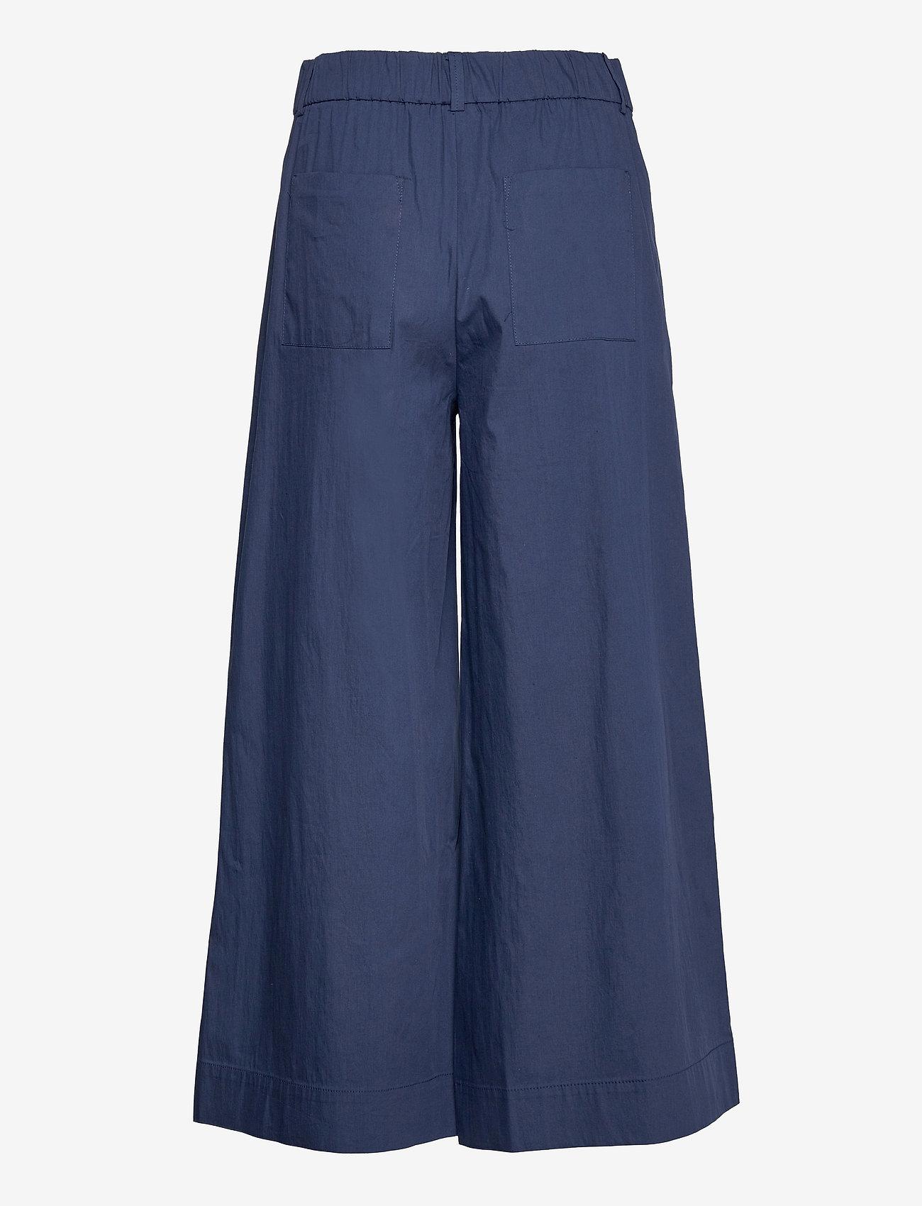 Mango - CIEL - bukser med brede ben - navy - 1