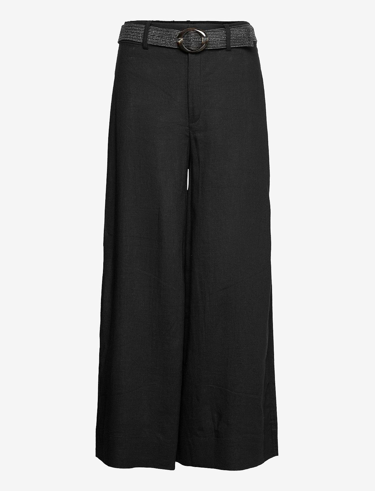 Mango - CEL - bukser med brede ben - black - 0