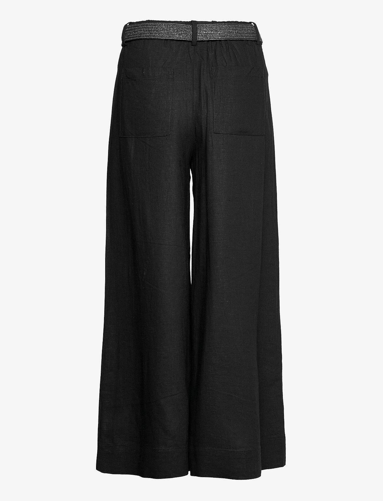Mango - CEL - bukser med brede ben - black - 1