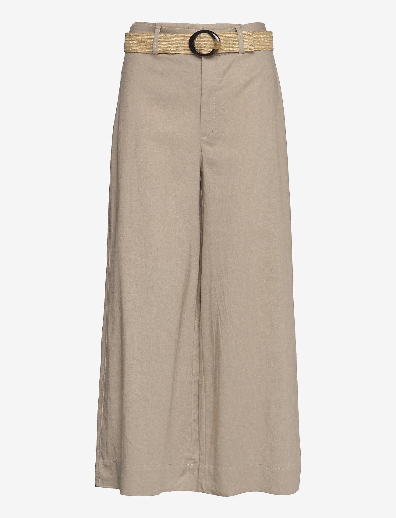 Mango - CEL - bukser med brede ben - stone - 0
