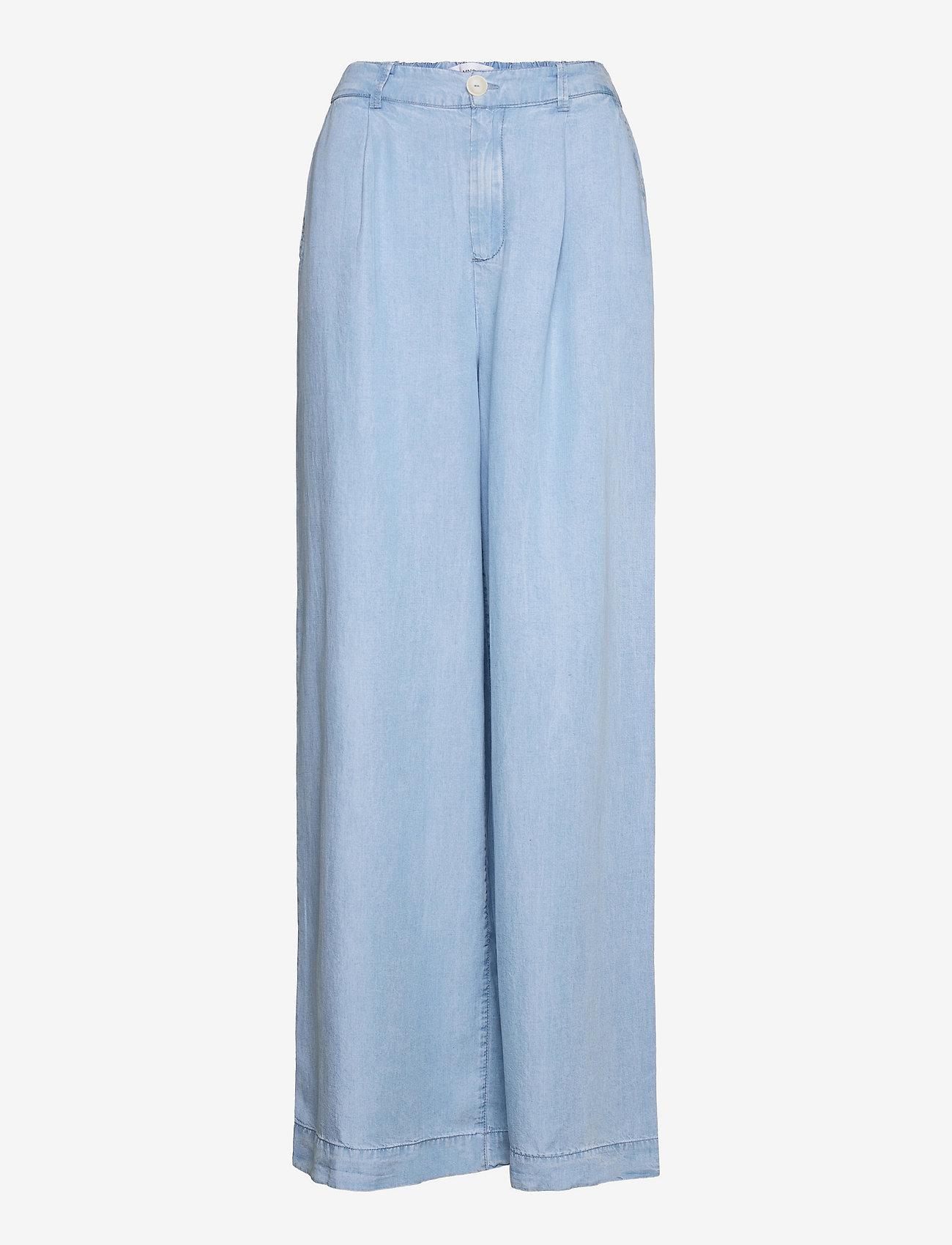 Mango - SMART - bukser med brede ben - mid denim - 0