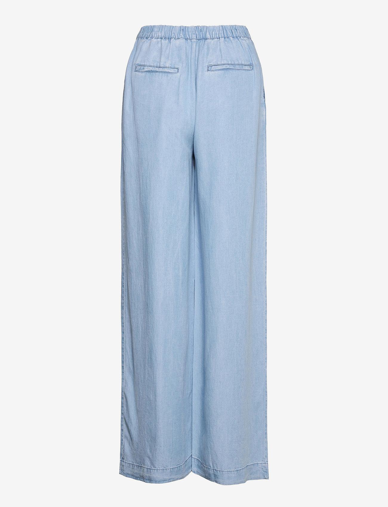 Mango - SMART - bukser med brede ben - mid denim - 1