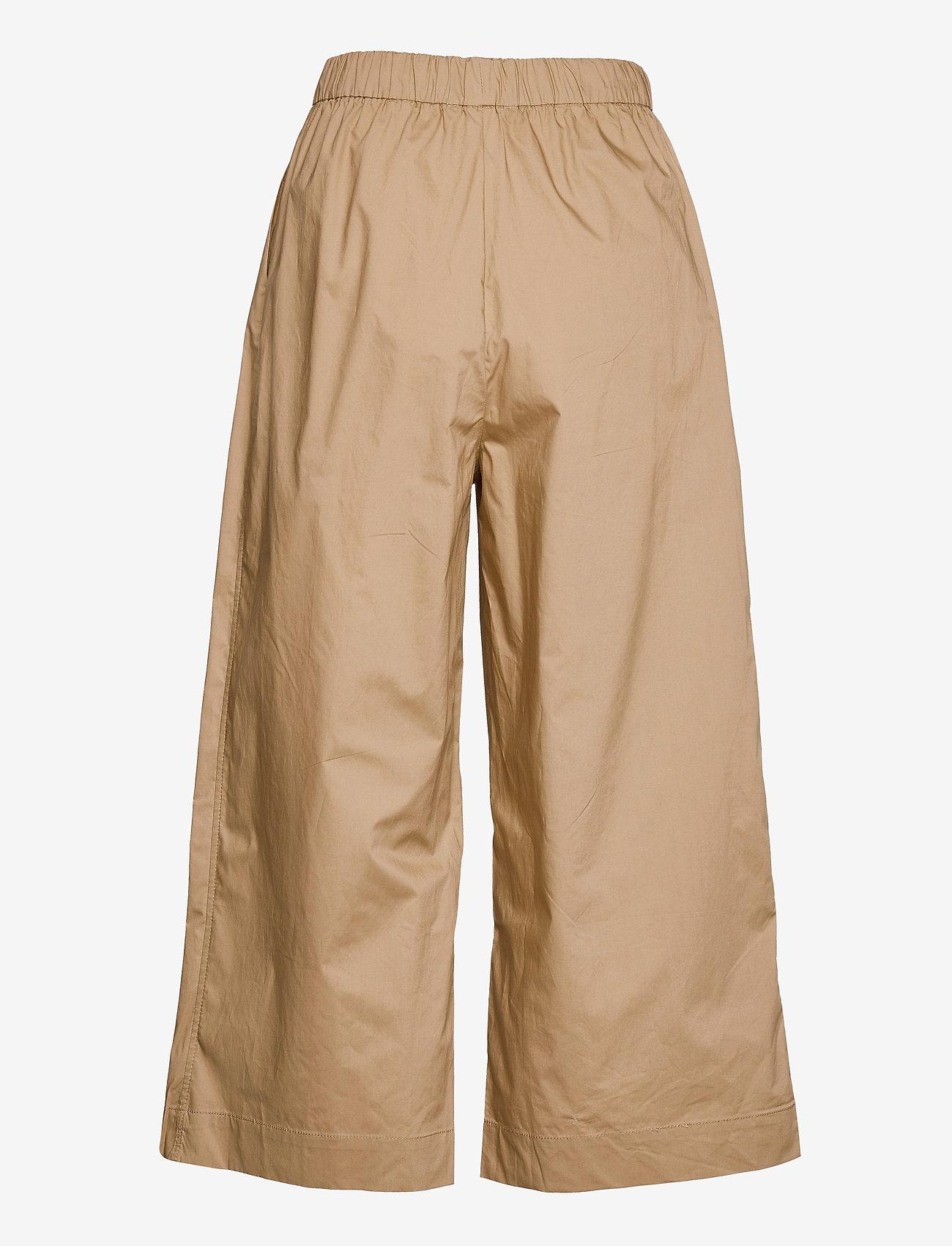 Mango - KAYAK - bukser med brede ben - sand - 1