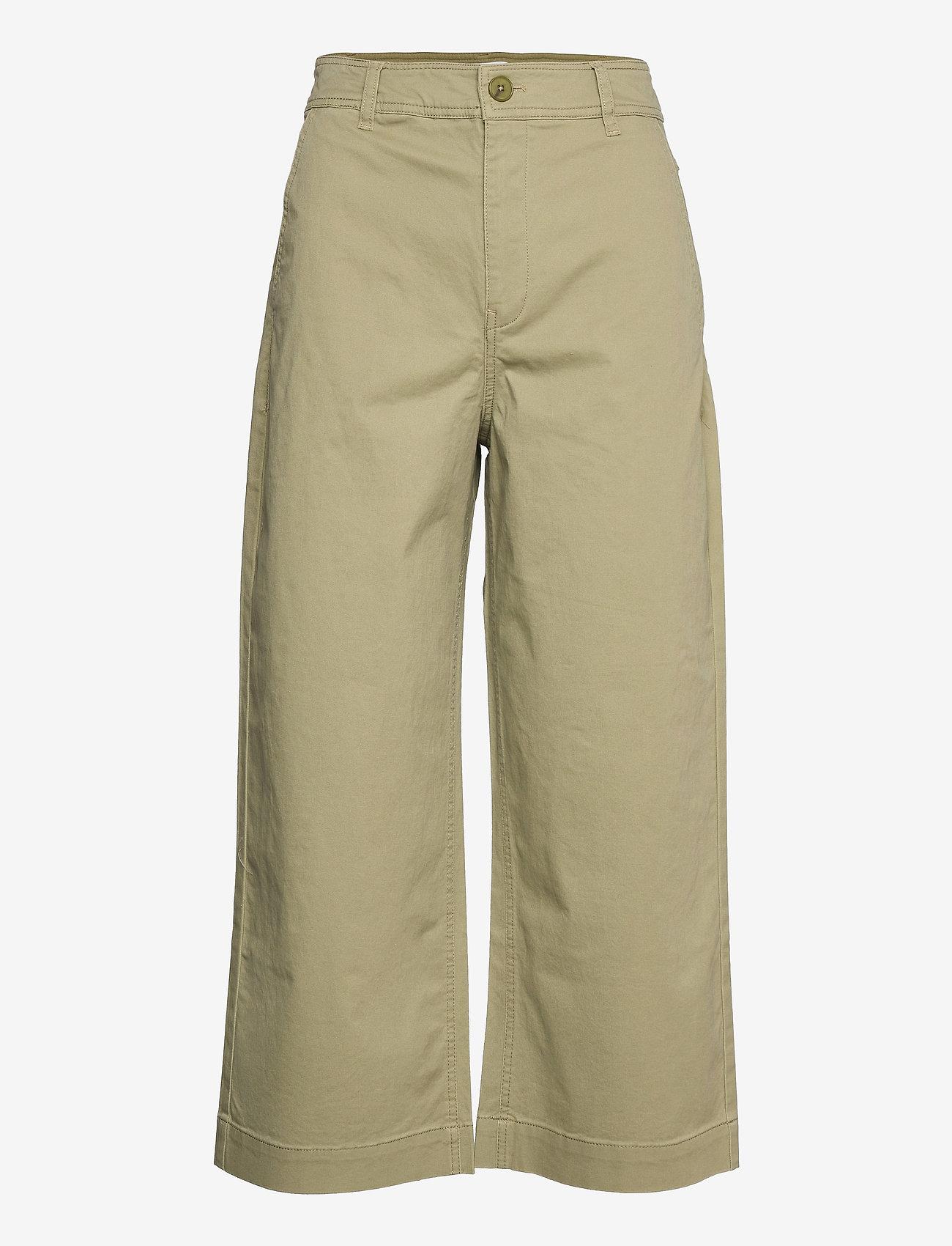 Mango - GARDEN - bukser med brede ben - khaki - 0