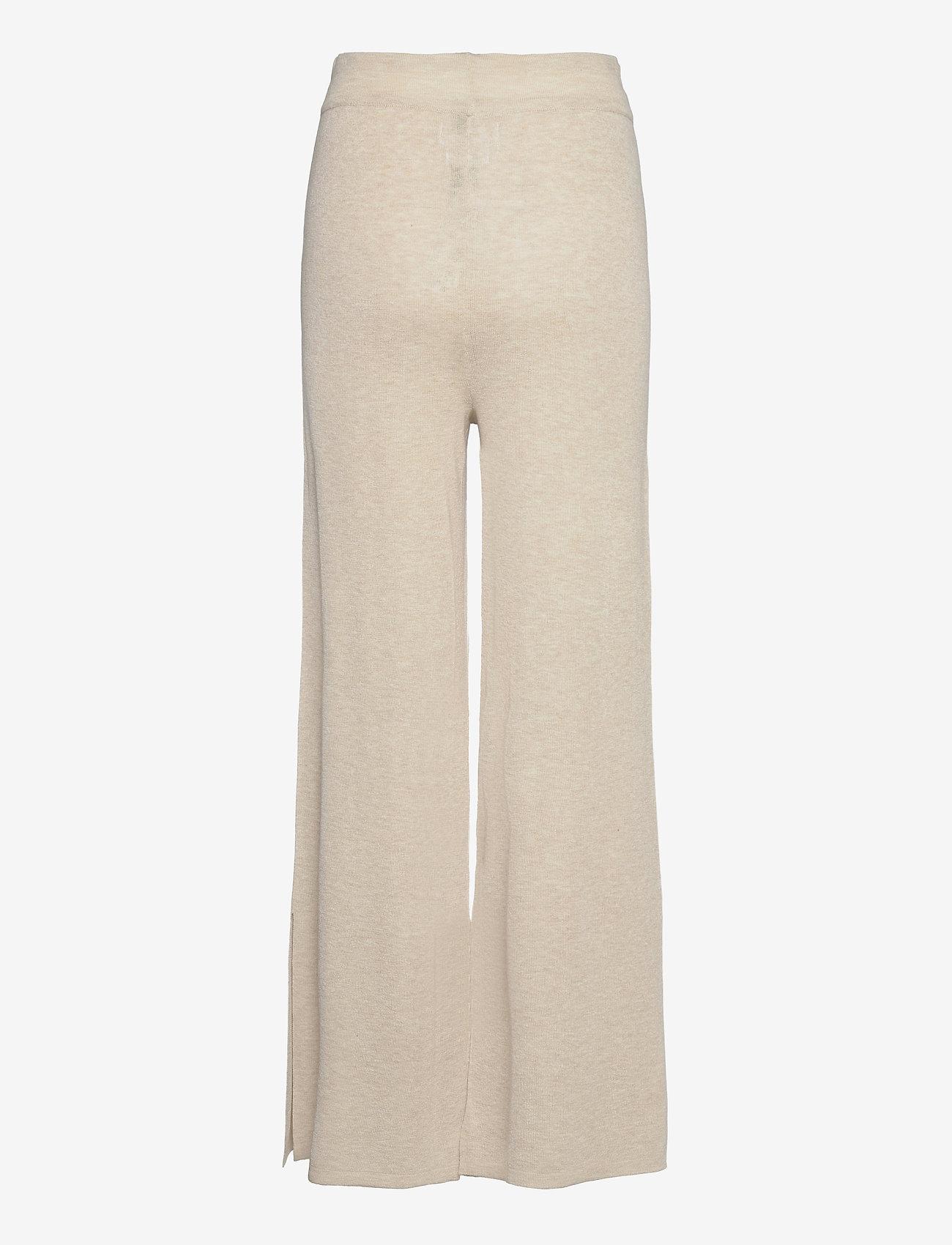 Mango - TOBIAS - bukser med brede ben - stone - 1