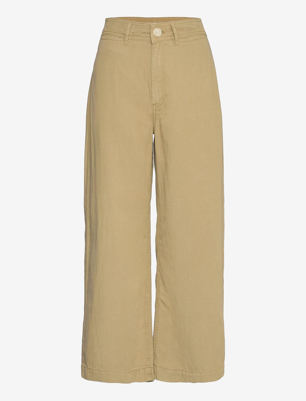 Mango - BLAU - bukser med brede ben - khaki - 0
