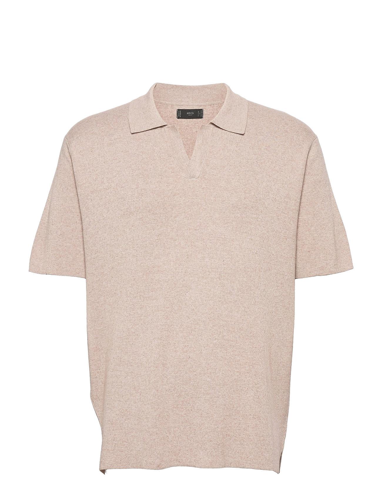Lino Polos Short-sleeved Beige Mango
