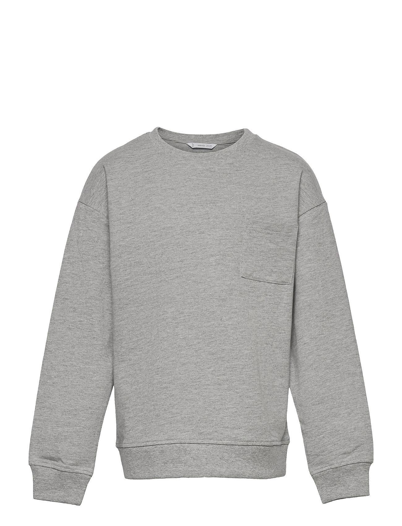 Crew1 Sweatshirt Trøje Grå Mango