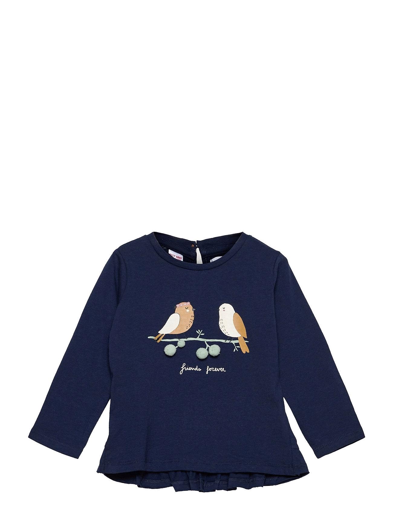 Birdy Langærmet T-shirt Blå Mango