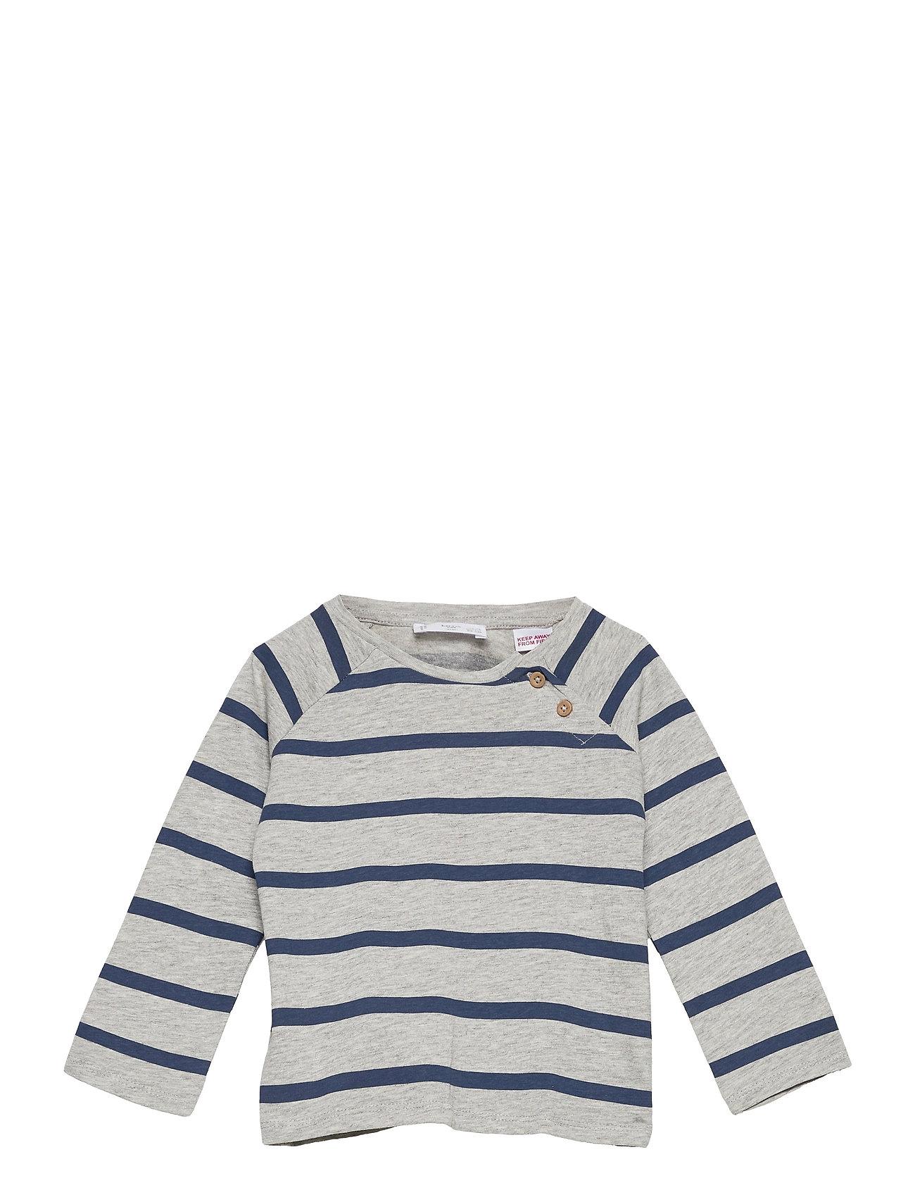 Robert Langærmet T-shirt Blå Mango