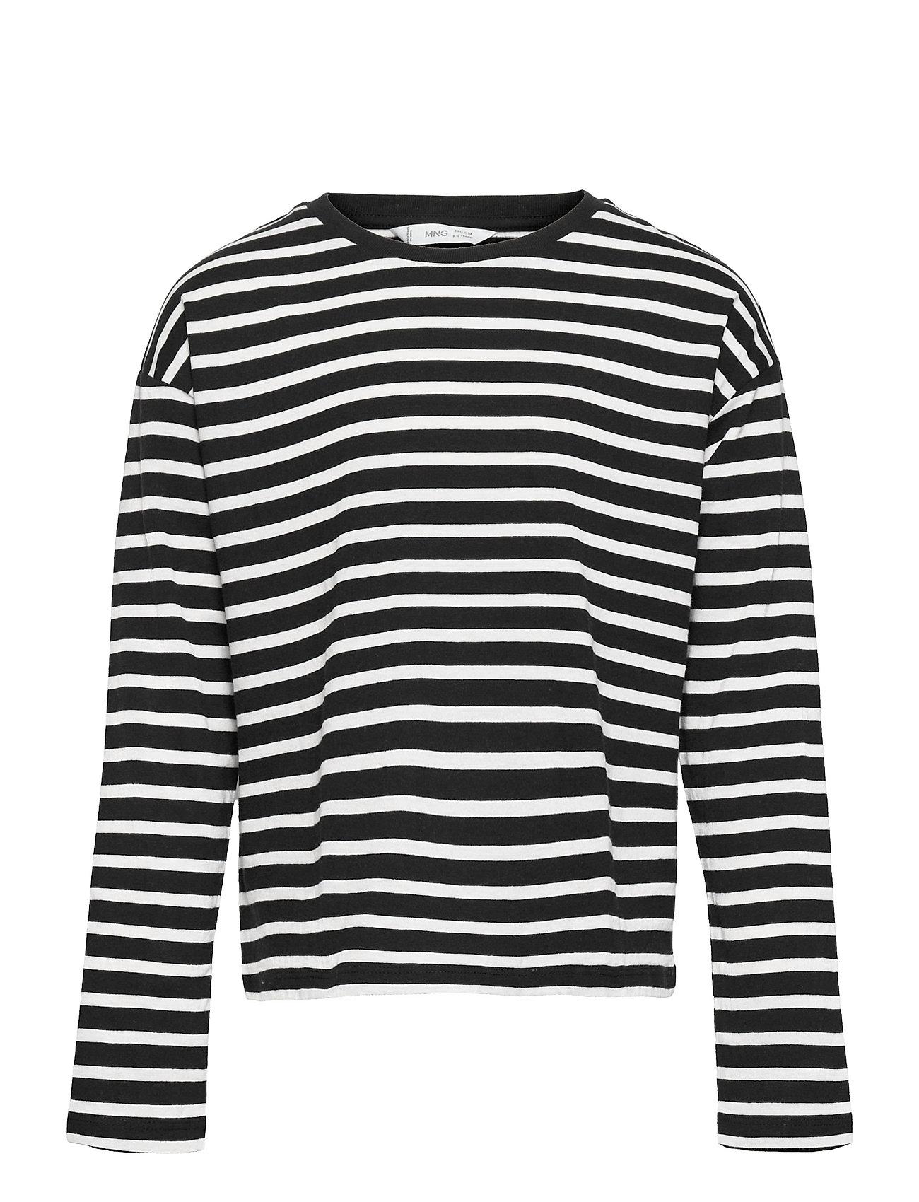Stripes Langærmet T-shirt Sort Mango