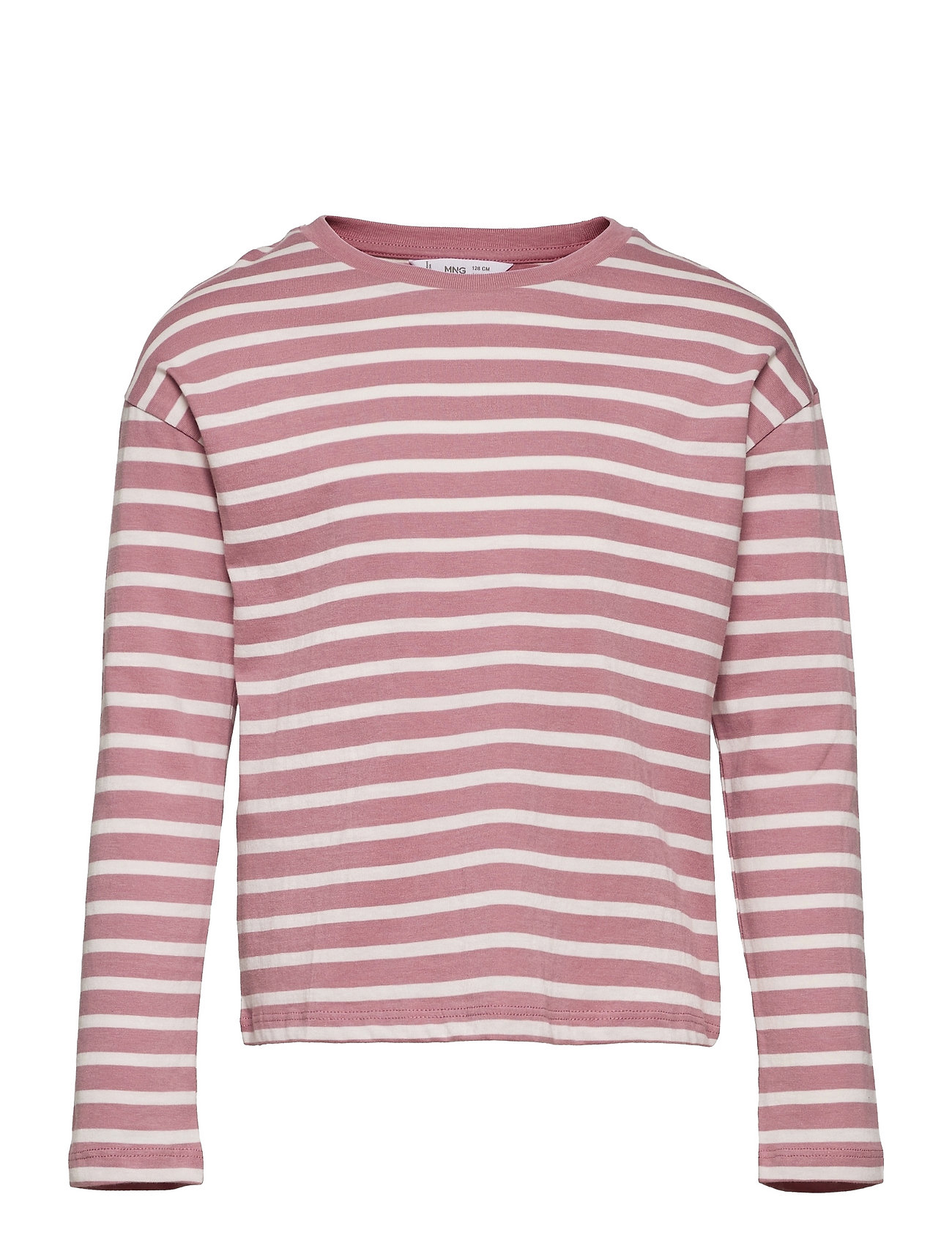 Stripes Langærmet T-shirt Lyserød Mango