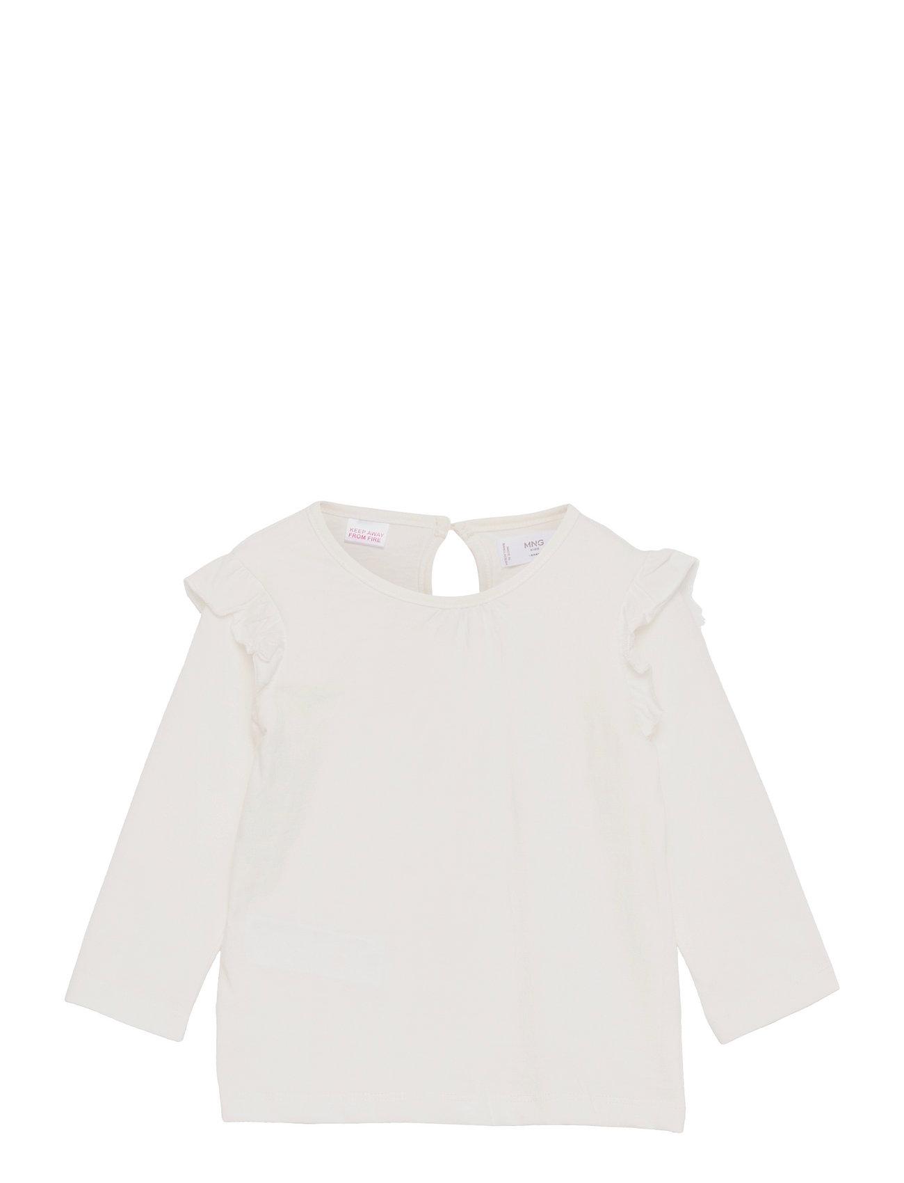 Italy Langærmet T-shirt Hvid Mango