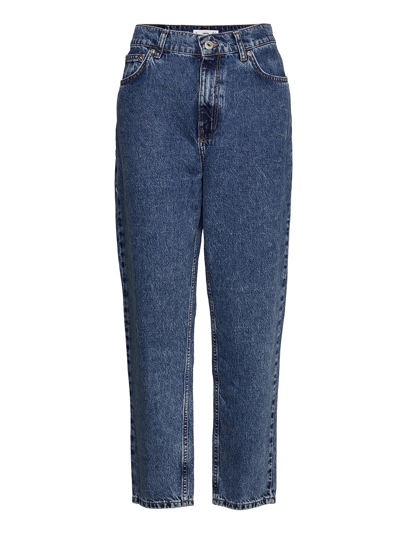 Mom80 Vide Jeans Blå Mango