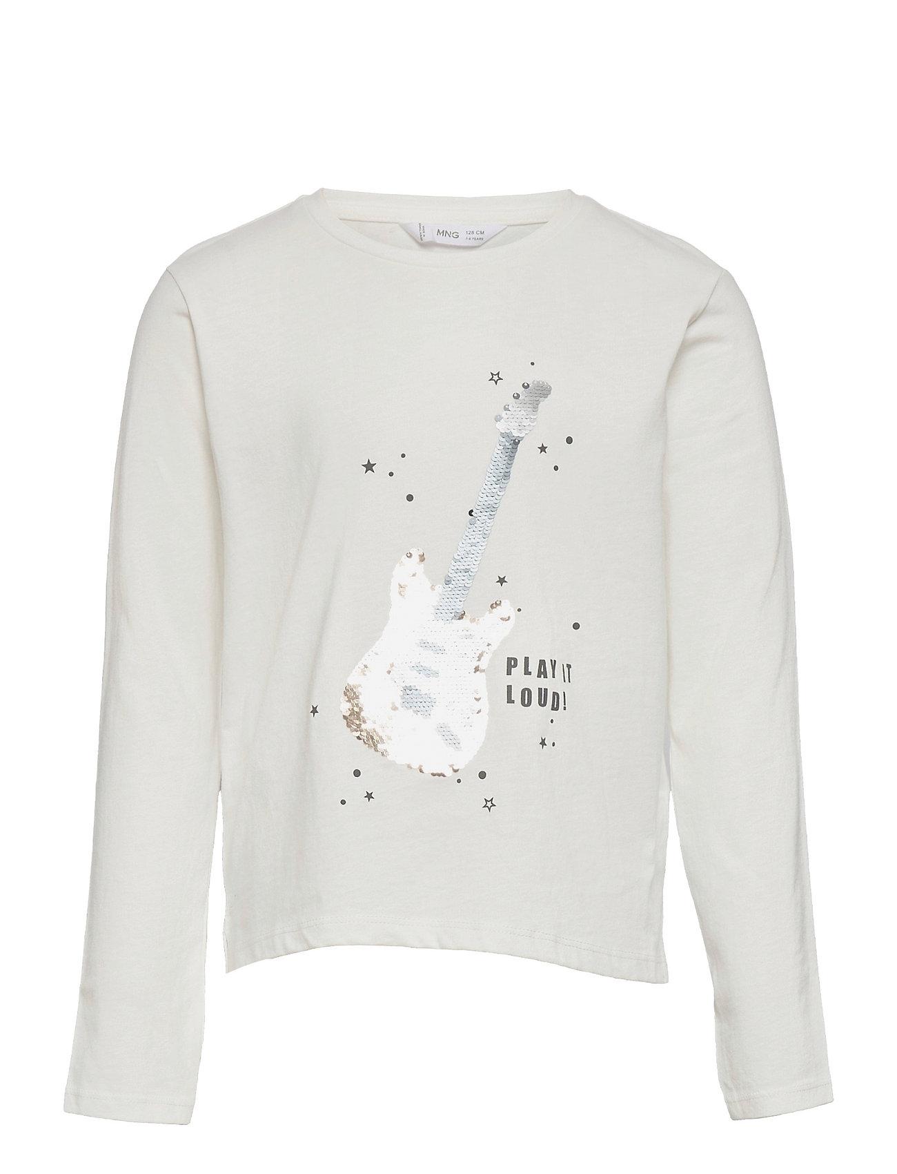 Lolly Langærmet T-shirt Hvid Mango
