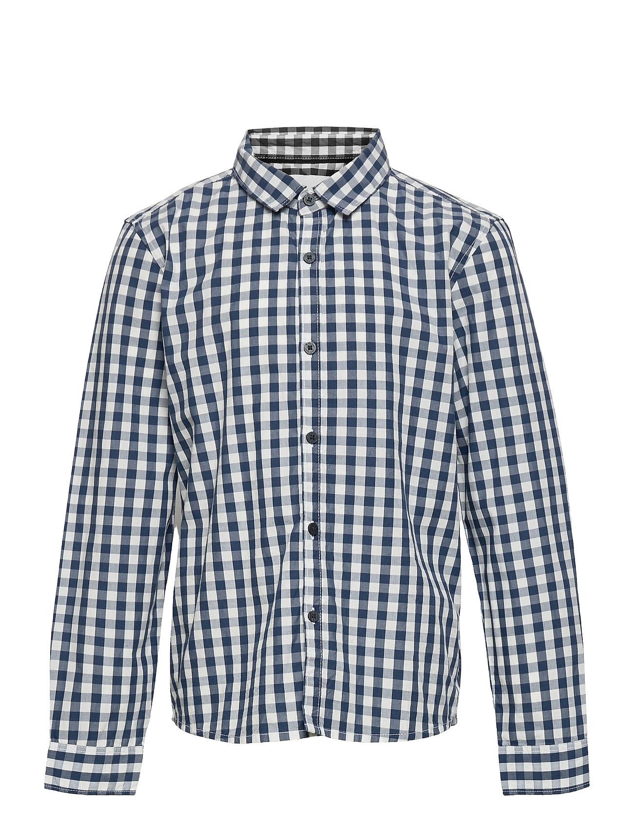 Checks Skjorte Blå Mango