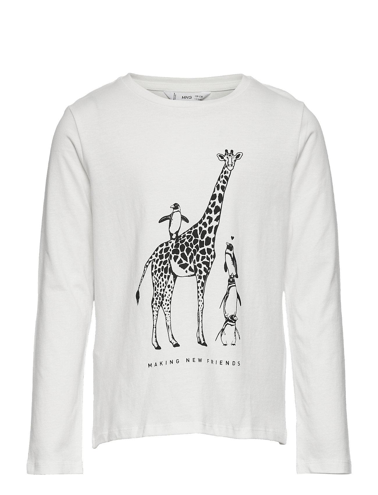 Sheldon Langærmet T-shirt Hvid Mango