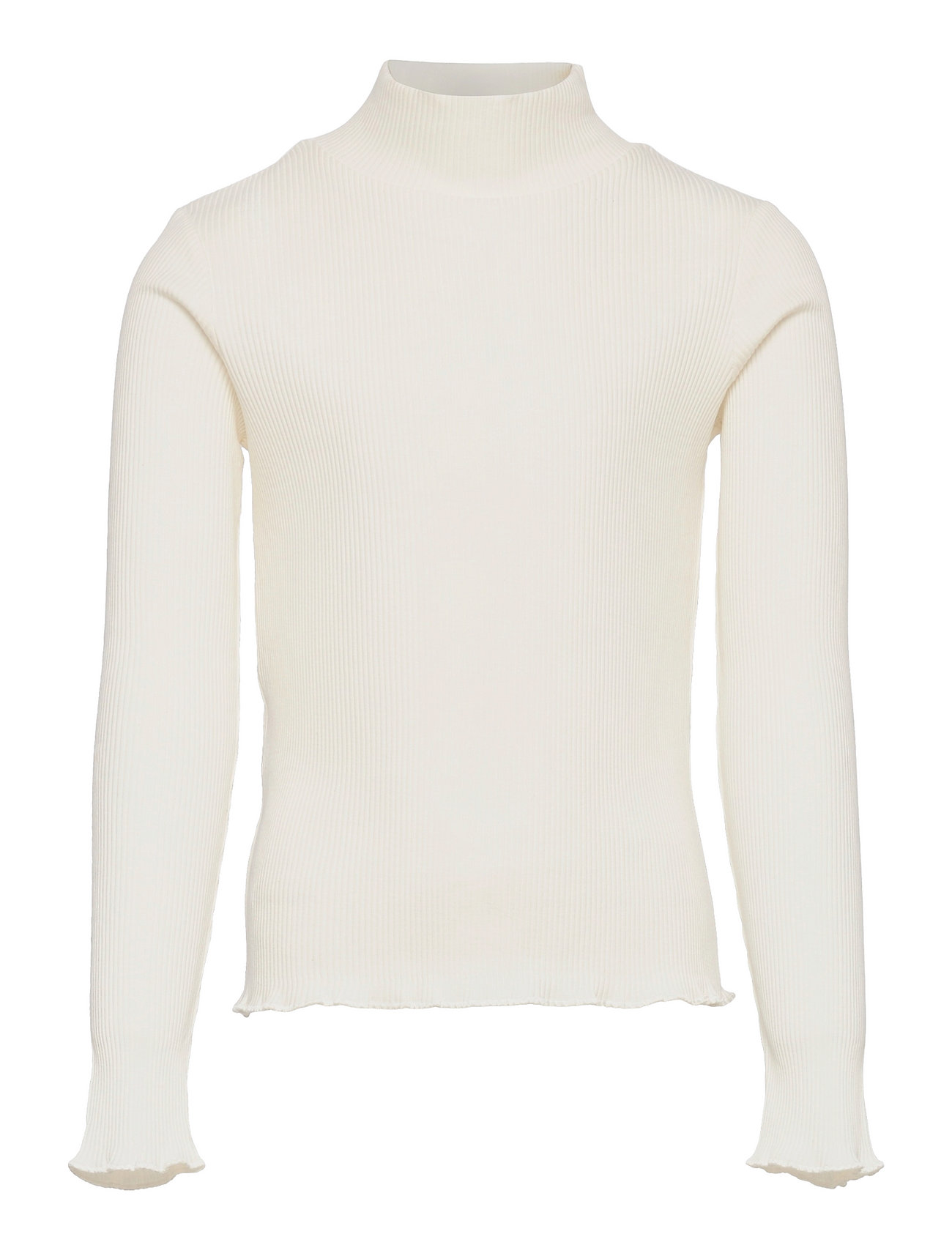 Turborib Langærmet T-shirt Hvid Mango