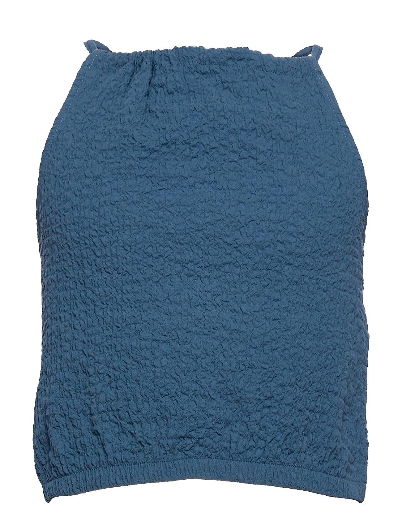 Formen Bluse Tunika Blå Mango