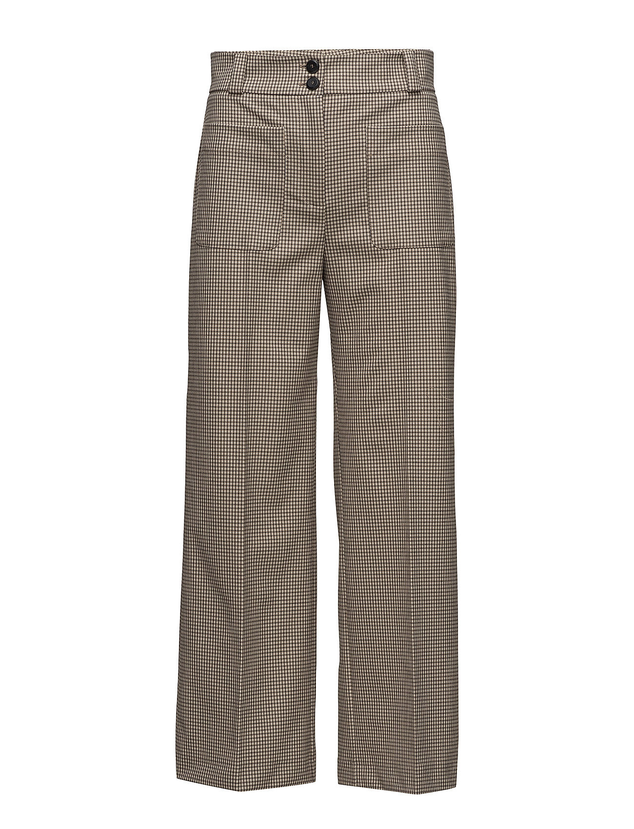 Mango Check cropped trousers