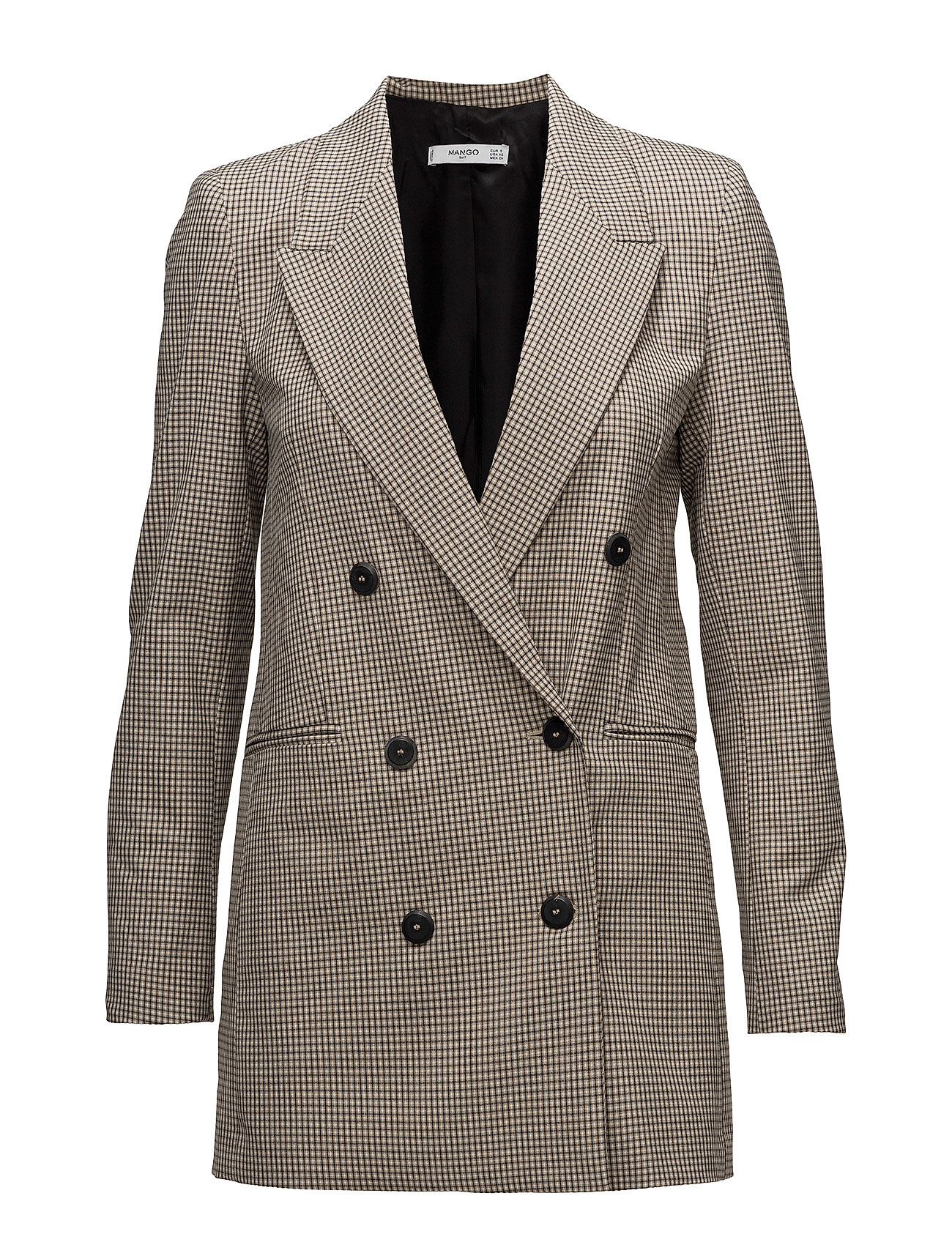Mango Double-breasted check suit blazer