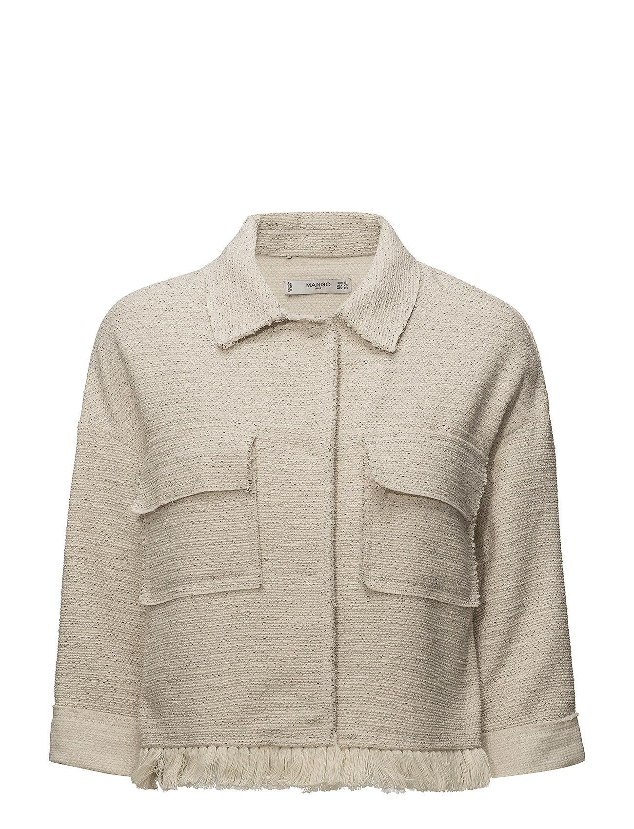 Mango Pocket tweed jacket