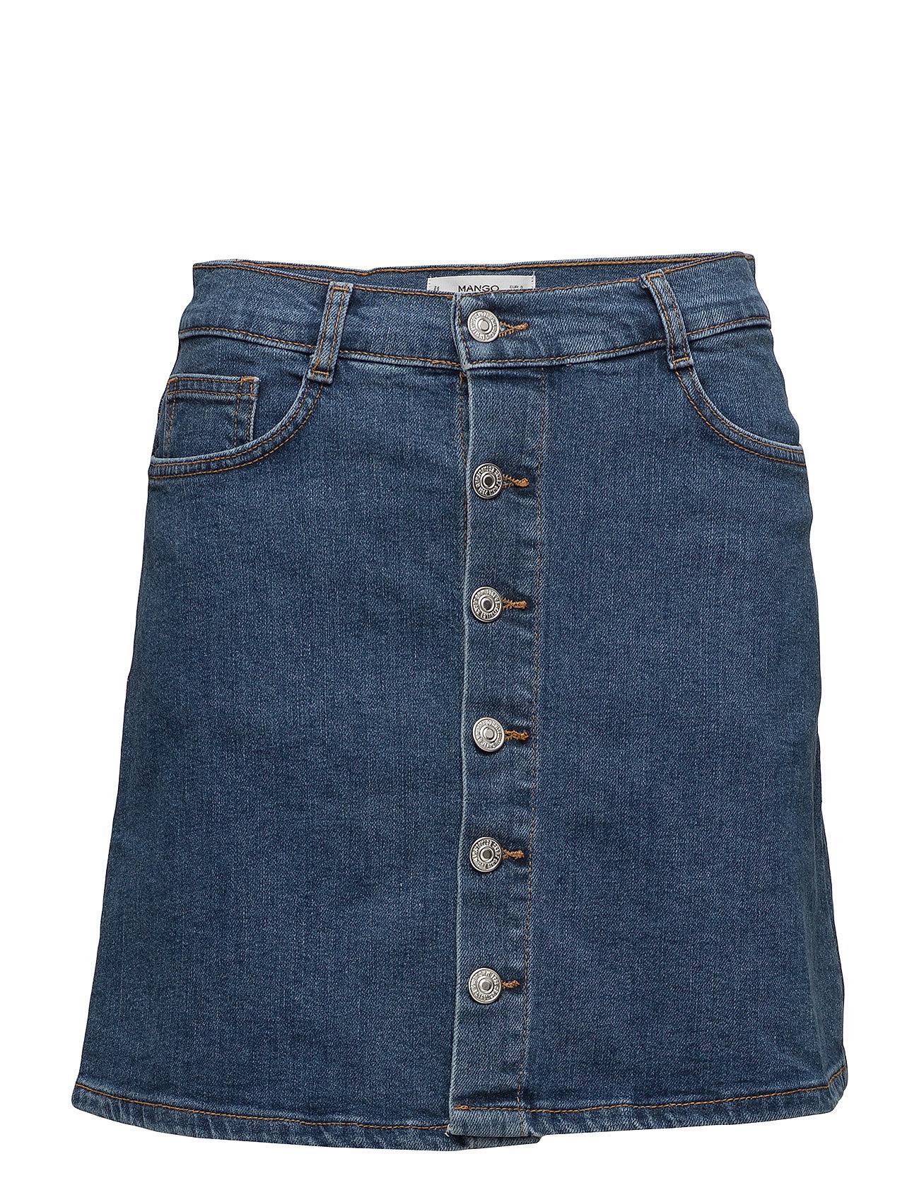 Mango Buttoned denim skirt